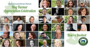 Niman Ranch 22nd Annual Hog Farmer Appreciation Celebration Features All-Star Lineup in First Ever Virtual Dinner, Panels, Awards, Farm Tour
